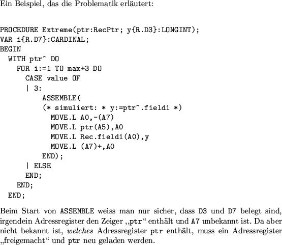 Seite: Optimierungen im Assembler Aufwärts: Der M2Amiga-Assembler ...: m2amiga.claudio.ch/htmldoc/node129.html